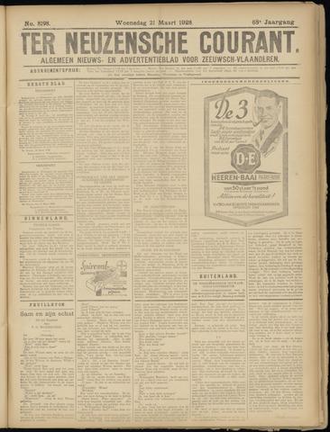 Ter Neuzensche Courant. Algemeen Nieuws- en Advertentieblad voor Zeeuwsch-Vlaanderen / Neuzensche Courant ... (idem) / (Algemeen) nieuws en advertentieblad voor Zeeuwsch-Vlaanderen 1928-03-21