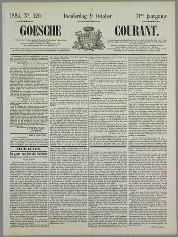 Goessche Courant 1884-10-09
