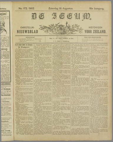 De Zeeuw. Christelijk-historisch nieuwsblad voor Zeeland 1902-08-16