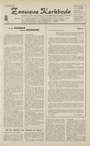 Zeeuwsche kerkbode, weekblad gewijd aan de belangen der gereformeerde kerken/ Zeeuwsch kerkblad 1962-08-17