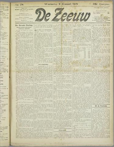 De Zeeuw. Christelijk-historisch nieuwsblad voor Zeeland 1918