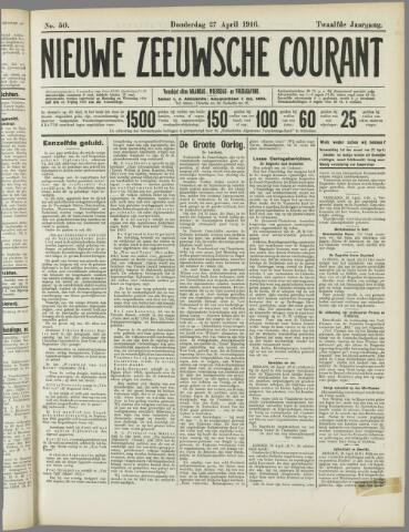 Nieuwe Zeeuwsche Courant 1916-04-27