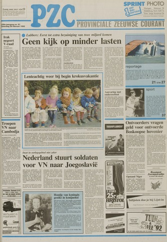 Provinciale Zeeuwse Courant 1992-02-29