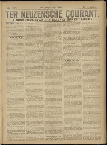 Ter Neuzensche Courant. Algemeen Nieuws- en Advertentieblad voor Zeeuwsch-Vlaanderen / Neuzensche Courant ... (idem) / (Algemeen) nieuws en advertentieblad voor Zeeuwsch-Vlaanderen 1921-04-04