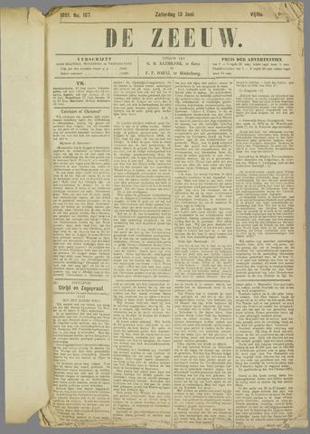 De Zeeuw. Christelijk-historisch nieuwsblad voor Zeeland 1891-06-13
