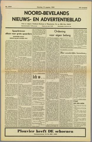 Noord-Bevelands Nieuws- en advertentieblad 1959-08-15