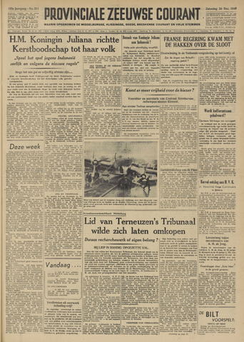 Provinciale Zeeuwse Courant 1949-12-24