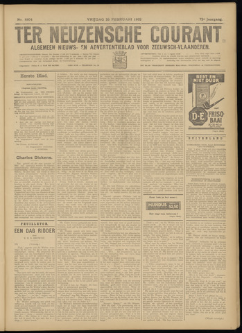 Ter Neuzensche Courant. Algemeen Nieuws- en Advertentieblad voor Zeeuwsch-Vlaanderen / Neuzensche Courant ... (idem) / (Algemeen) nieuws en advertentieblad voor Zeeuwsch-Vlaanderen 1932-02-26