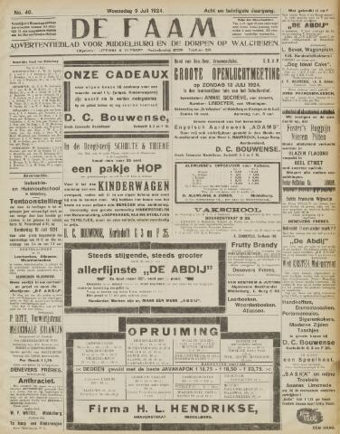 de Faam en de Faam/de Vlissinger 1924-07-09