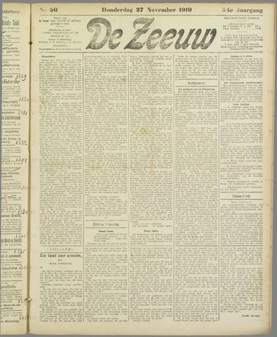 De Zeeuw. Christelijk-historisch nieuwsblad voor Zeeland 1919-11-27