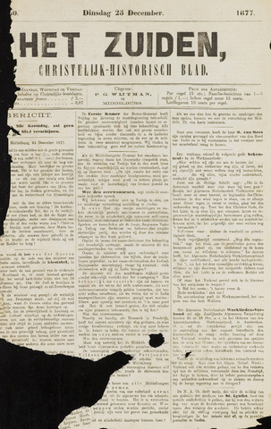 Het Zuiden, Christelijk-historisch blad 1877-12-25