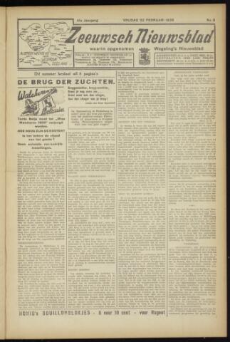 Zeeuwsch Nieuwsblad/Wegeling's Nieuwsblad 1935-02-22