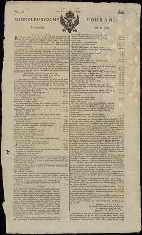 Middelburgsche Courant 1814-07-21
