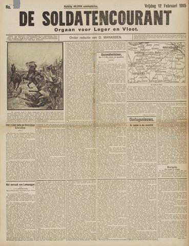 De Soldatencourant. Orgaan voor Leger en Vloot 1915-02-12