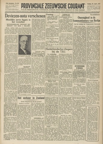 Provinciale Zeeuwse Courant 1947-04-25