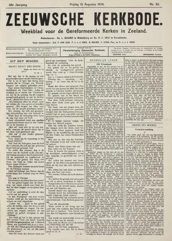Zeeuwsche kerkbode, weekblad gewijd aan de belangen der gereformeerde kerken/ Zeeuwsch kerkblad 1924-08-15