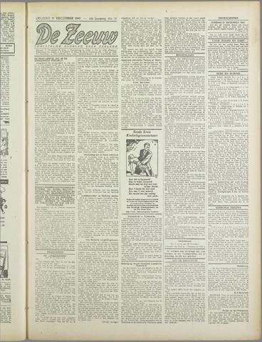 De Zeeuw. Christelijk-historisch nieuwsblad voor Zeeland 1943-12-21