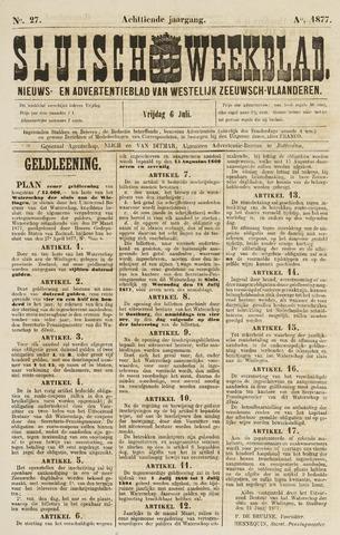 Sluisch Weekblad. Nieuws- en advertentieblad voor Westelijk Zeeuwsch-Vlaanderen 1877-07-13