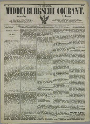 Middelburgsche Courant 1891-01-03