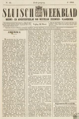Sluisch Weekblad. Nieuws- en advertentieblad voor Westelijk Zeeuwsch-Vlaanderen 1865-03-24