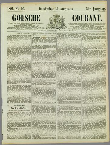 Goessche Courant 1891-08-13