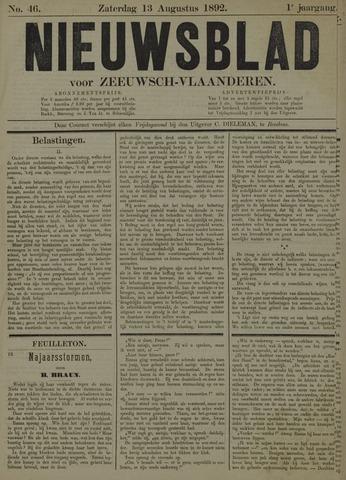 Nieuwsblad voor Zeeuwsch-Vlaanderen 1892-08-13