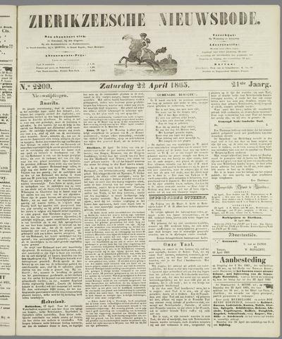 Zierikzeesche Nieuwsbode 1865-04-22