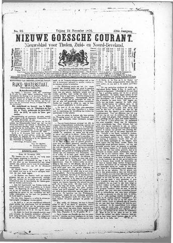 Nieuwe Goessche Courant 1876-11-24