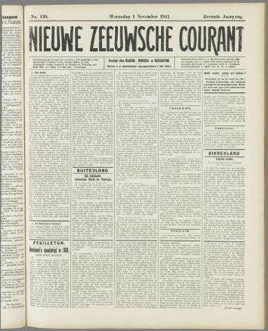 Nieuwe Zeeuwsche Courant 1911-11-01
