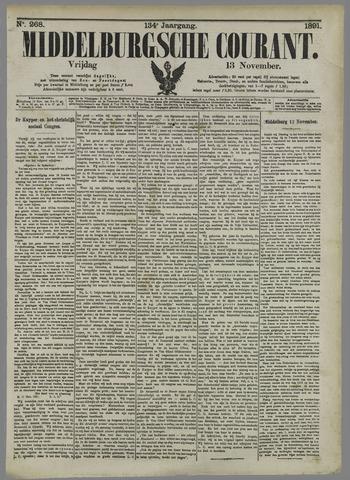 Middelburgsche Courant 1891-11-13