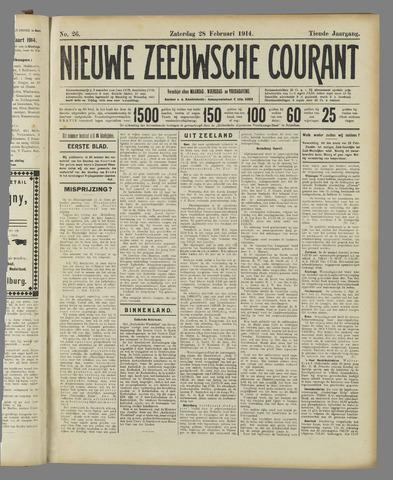 Nieuwe Zeeuwsche Courant 1914-02-28