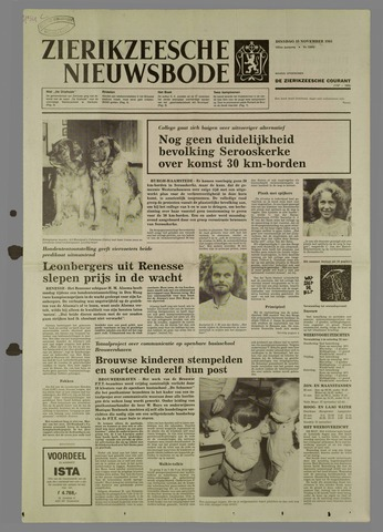 Zierikzeesche Nieuwsbode 1985-11-19