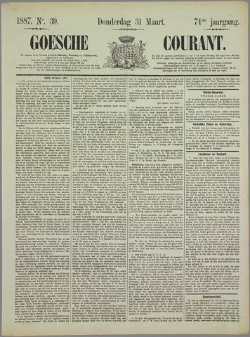 Goessche Courant 1887-03-31