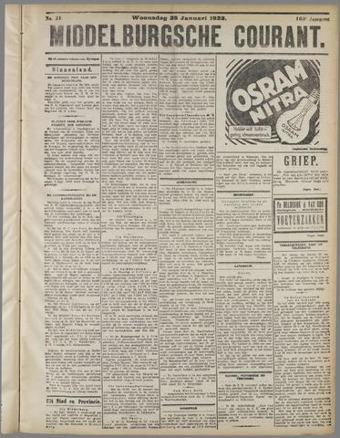 Middelburgsche Courant 1922-01-25