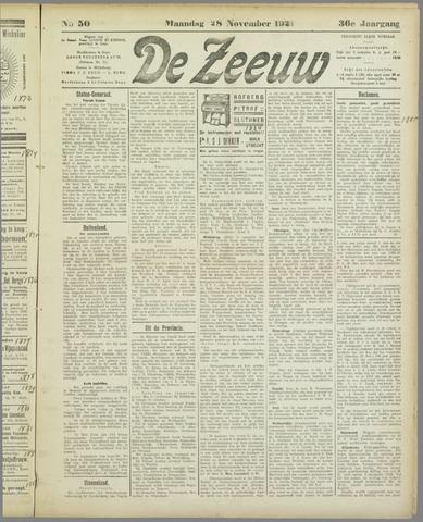 De Zeeuw. Christelijk-historisch nieuwsblad voor Zeeland 1921-11-28