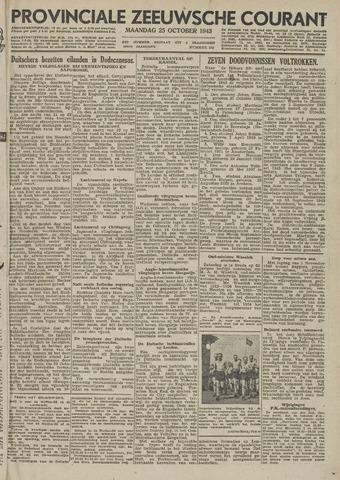 Provinciale Zeeuwse Courant 1943-10-25