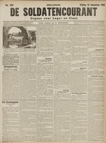 De Soldatencourant. Orgaan voor Leger en Vloot 1916-11-10