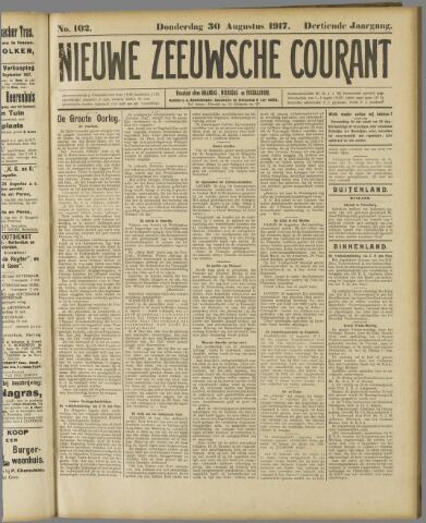 Nieuwe Zeeuwsche Courant 1917-08-30