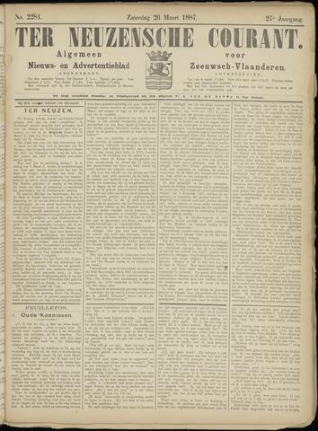 Ter Neuzensche Courant. Algemeen Nieuws- en Advertentieblad voor Zeeuwsch-Vlaanderen / Neuzensche Courant ... (idem) / (Algemeen) nieuws en advertentieblad voor Zeeuwsch-Vlaanderen 1887-03-26