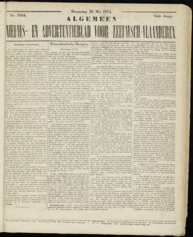 Ter Neuzensche Courant. Algemeen Nieuws- en Advertentieblad voor Zeeuwsch-Vlaanderen / Neuzensche Courant ... (idem) / (Algemeen) nieuws en advertentieblad voor Zeeuwsch-Vlaanderen 1875-05-26
