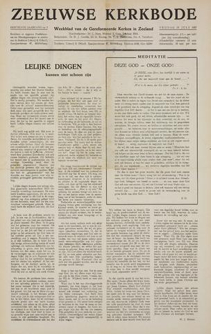 Zeeuwsche kerkbode, weekblad gewijd aan de belangen der gereformeerde kerken/ Zeeuwsch kerkblad 1957-07-19
