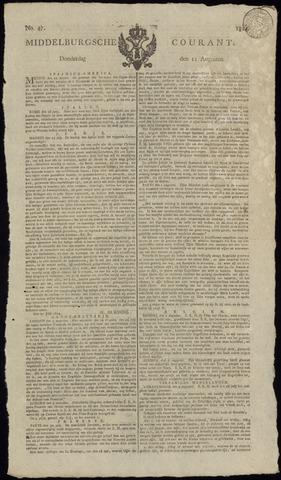 Middelburgsche Courant 1814-08-11