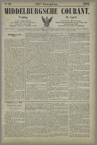 Middelburgsche Courant 1884-04-25