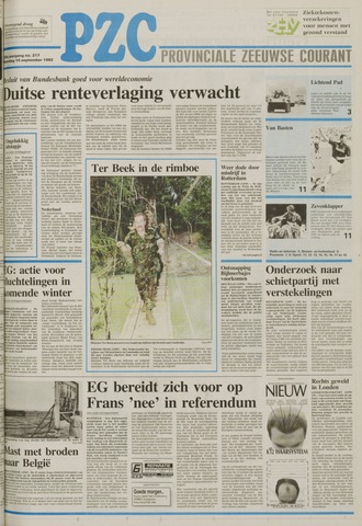 Provinciale Zeeuwse Courant 1992-09-14