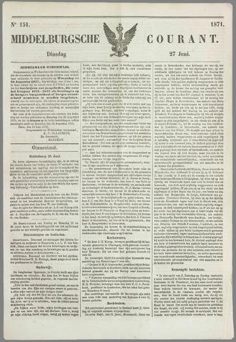 Middelburgsche Courant 1871-06-27