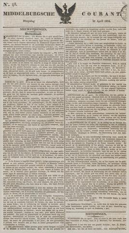 Middelburgsche Courant 1834-04-22