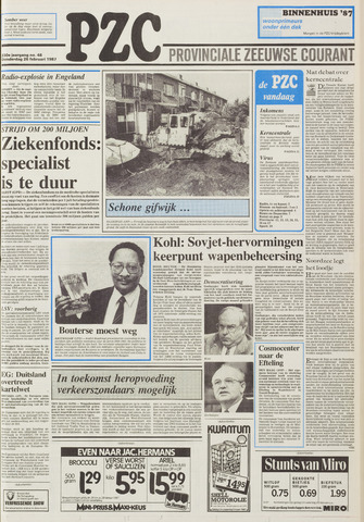 Provinciale Zeeuwse Courant 1987-02-26