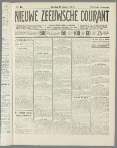 Nieuwe Zeeuwsche Courant 1917-01-23
