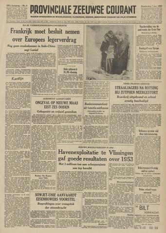 Provinciale Zeeuwse Courant 1954-01-07