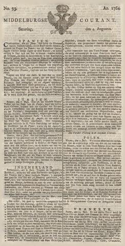 Middelburgsche Courant 1764-08-04